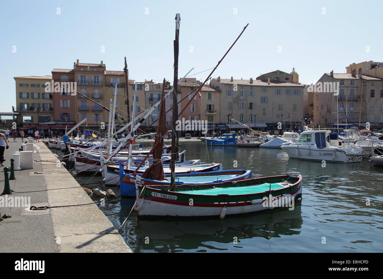 Port of Saint-Tropez.Provençal town in the Var department of the Provence-Alpes-Côte d'Azur region - Stock Image