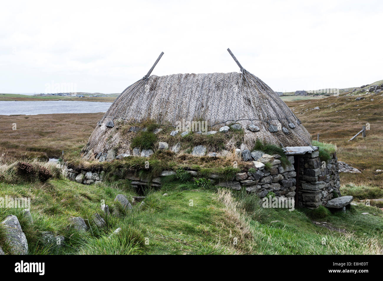 The Reconstructed Norse Mill, Shawbost Isle of Lewis Hebrides Scotland UK - Stock Image