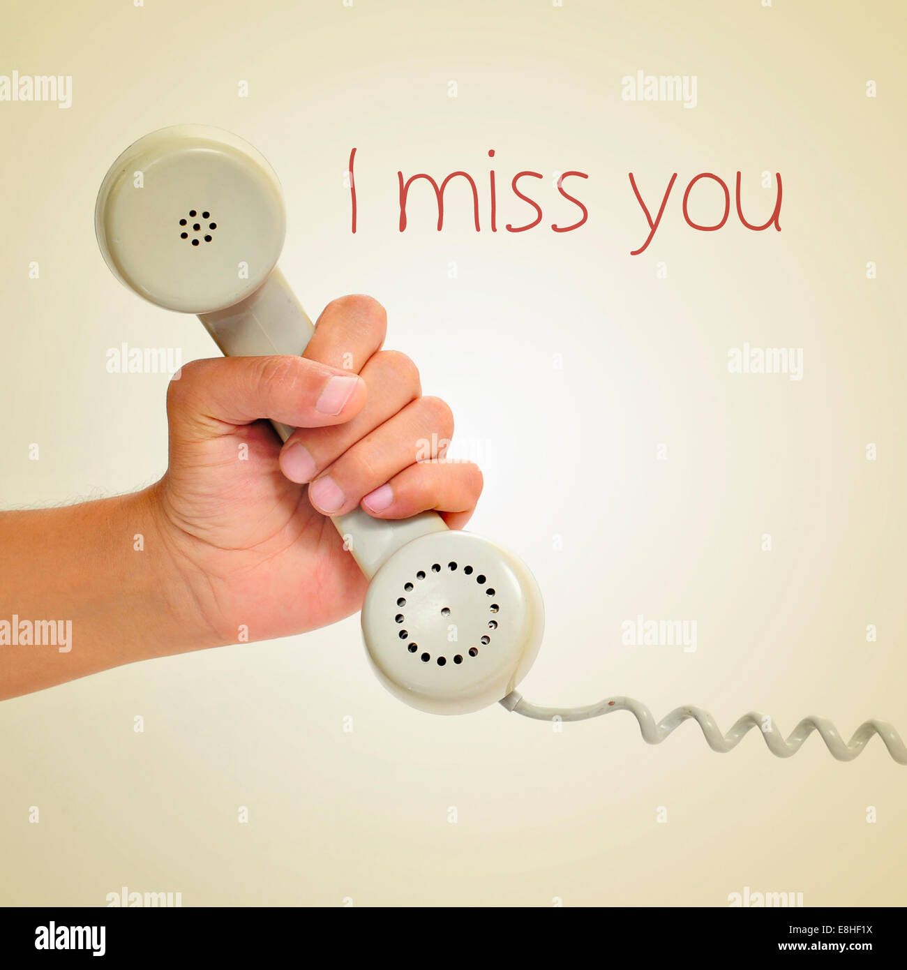 I Miss You Message Stock Photos & I Miss You Message Stock Images