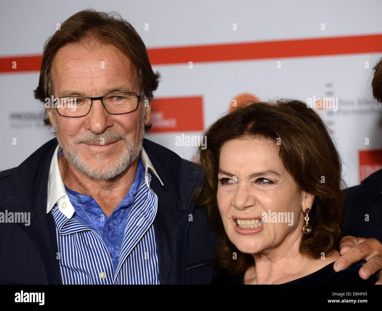 Cologne Germany 7th Oct 2014 German Actors Goetz George L And Stock Photo Alamy