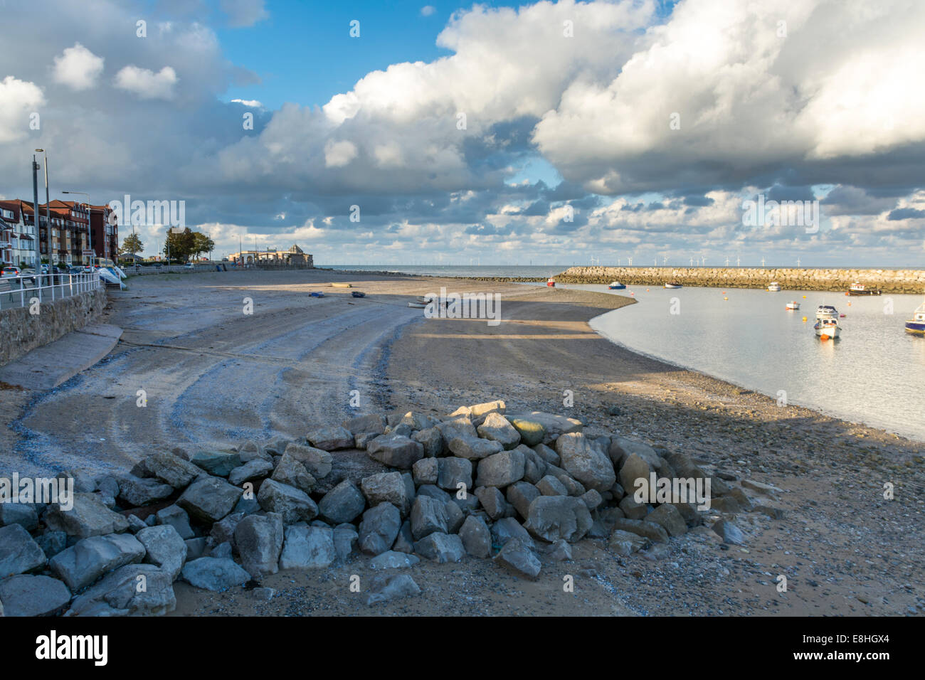 View of Rhos-on-Sea,  Conwy, North Wales , UK - Stock Image