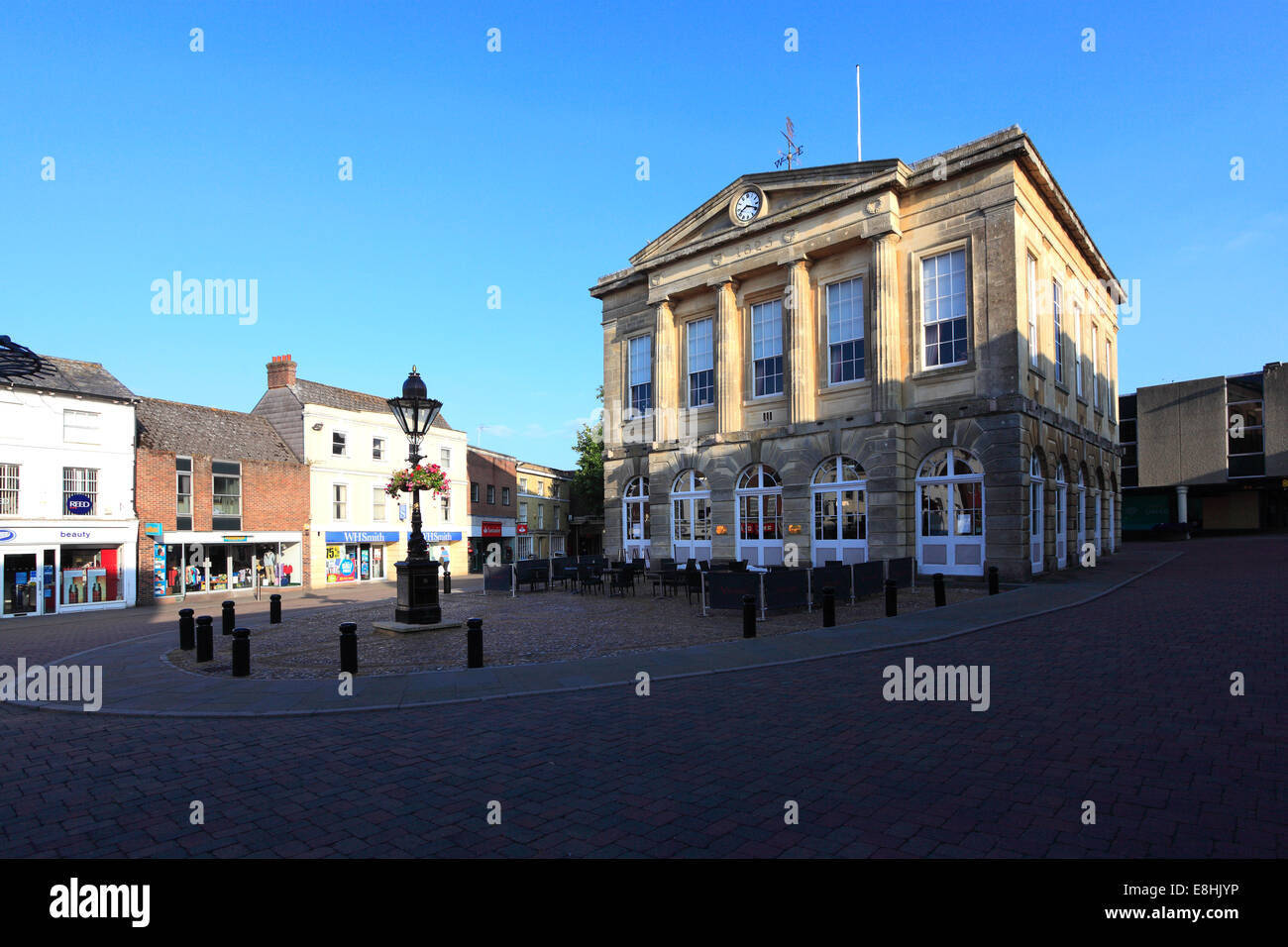The Guildhall building, Andover town, Hampshire County; England; Britain, UK - Stock Image