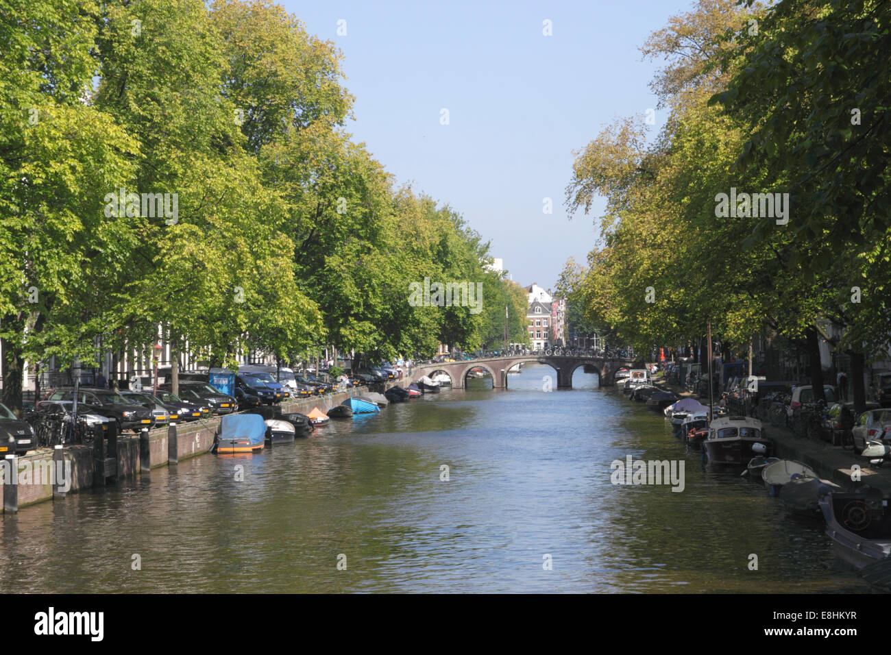 Herengracht Canal in Western Canal Ring district Amsterdam - Stock Image