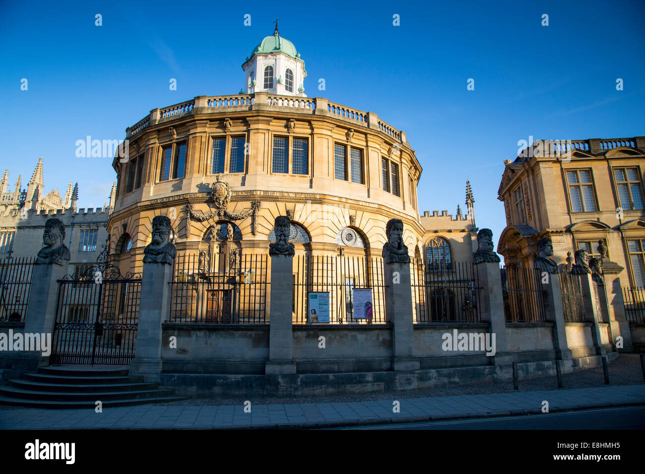 The Sheldonian Theatre - designed by Christopher Wren, built 1664-1668, Oxford, Oxfordshire, England - Stock Image