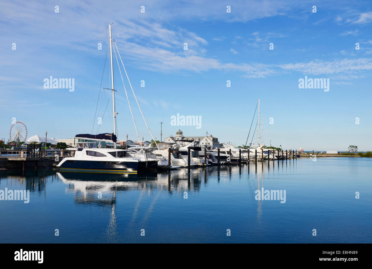 DuSable Harbor in Chicago - Stock Image