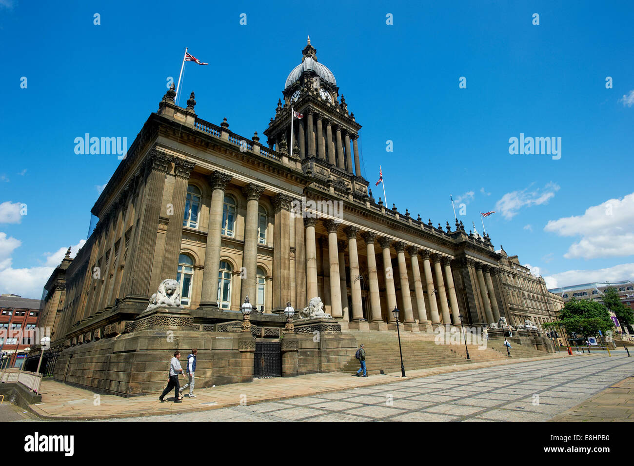 Leeds Town Hall, Leeds, West Yorkshire, UK. - Stock Image