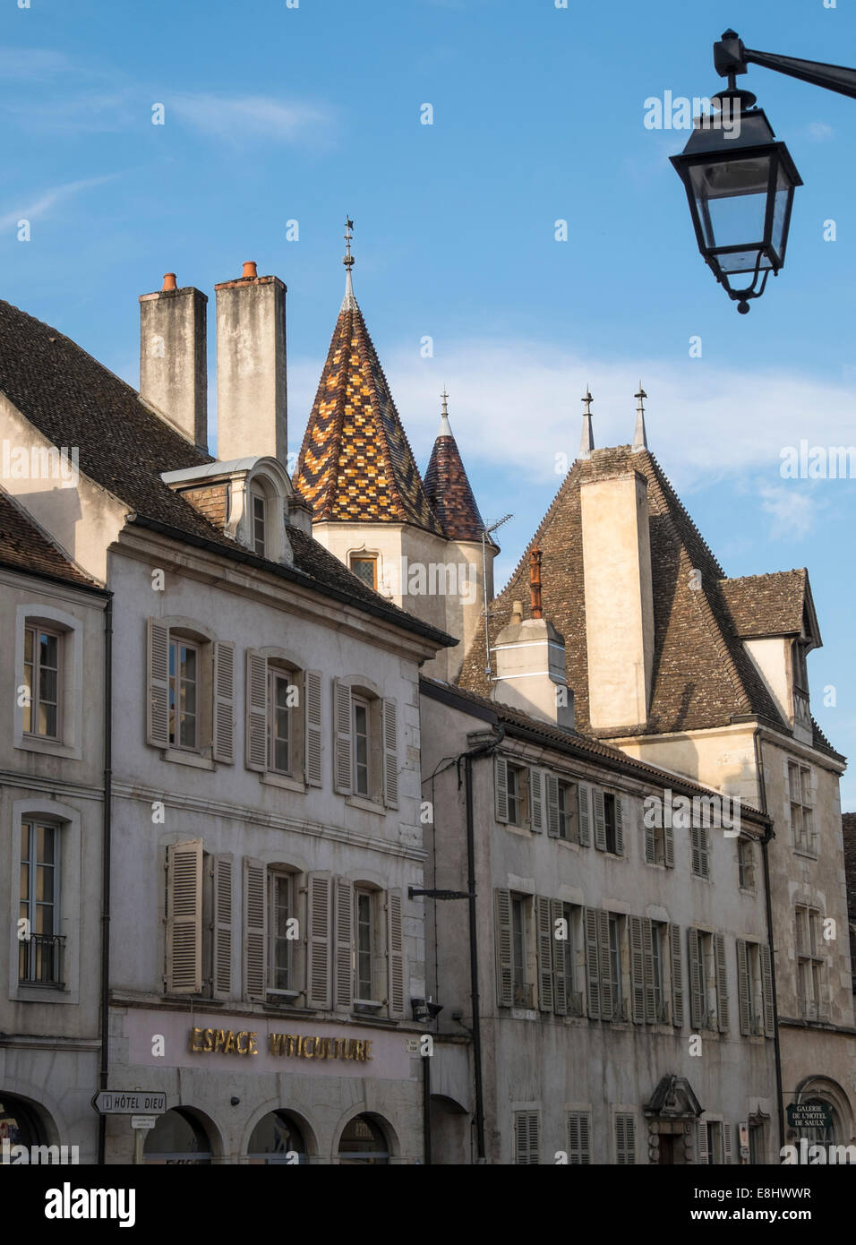 The centre of Beaune - buildings, Beaune, France - Stock Image