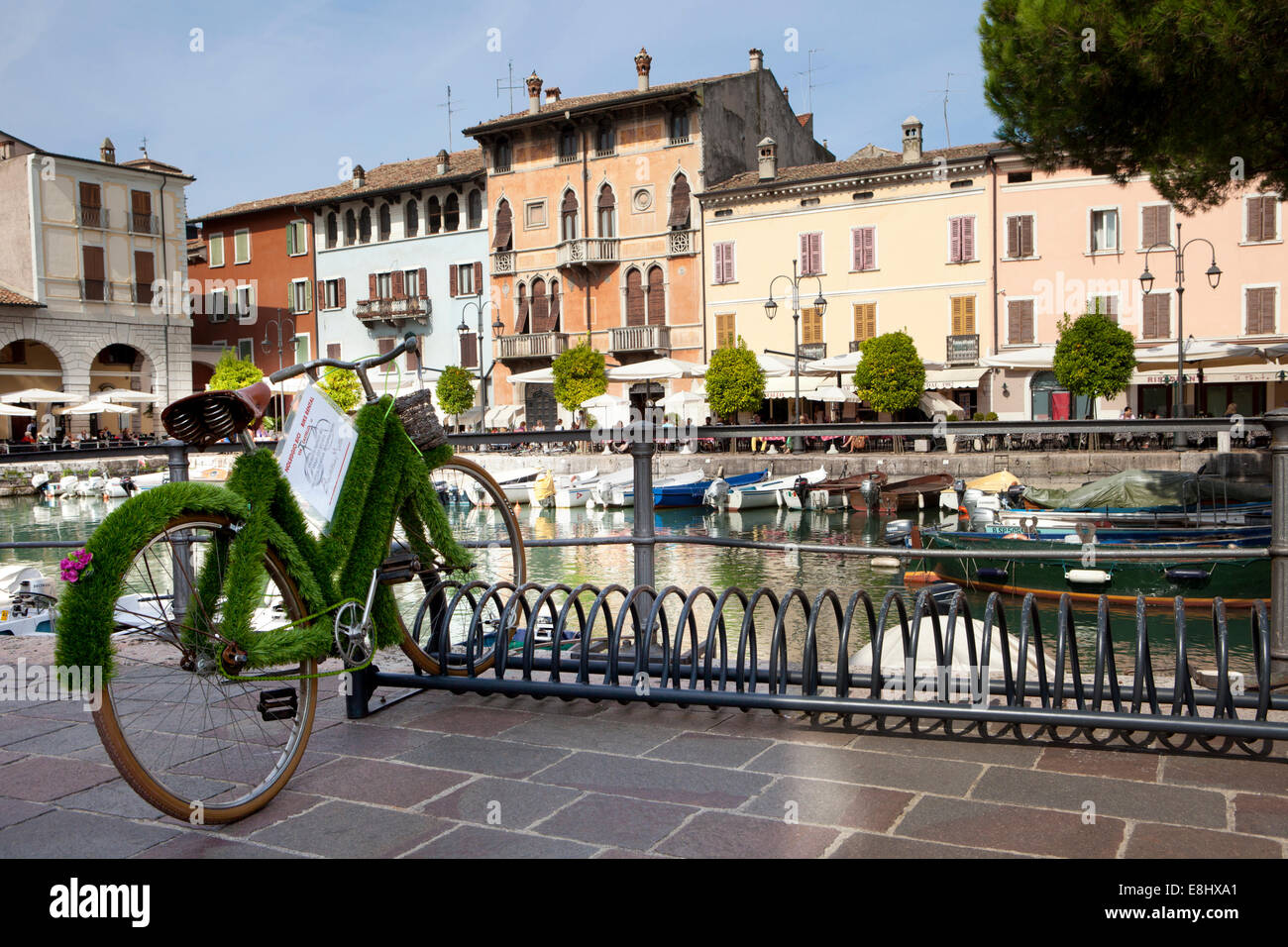 Desenzano del Garda is a town and comune in the province of Brescia, in Lombardy, Italy, on the southwestern shore Stock Photo