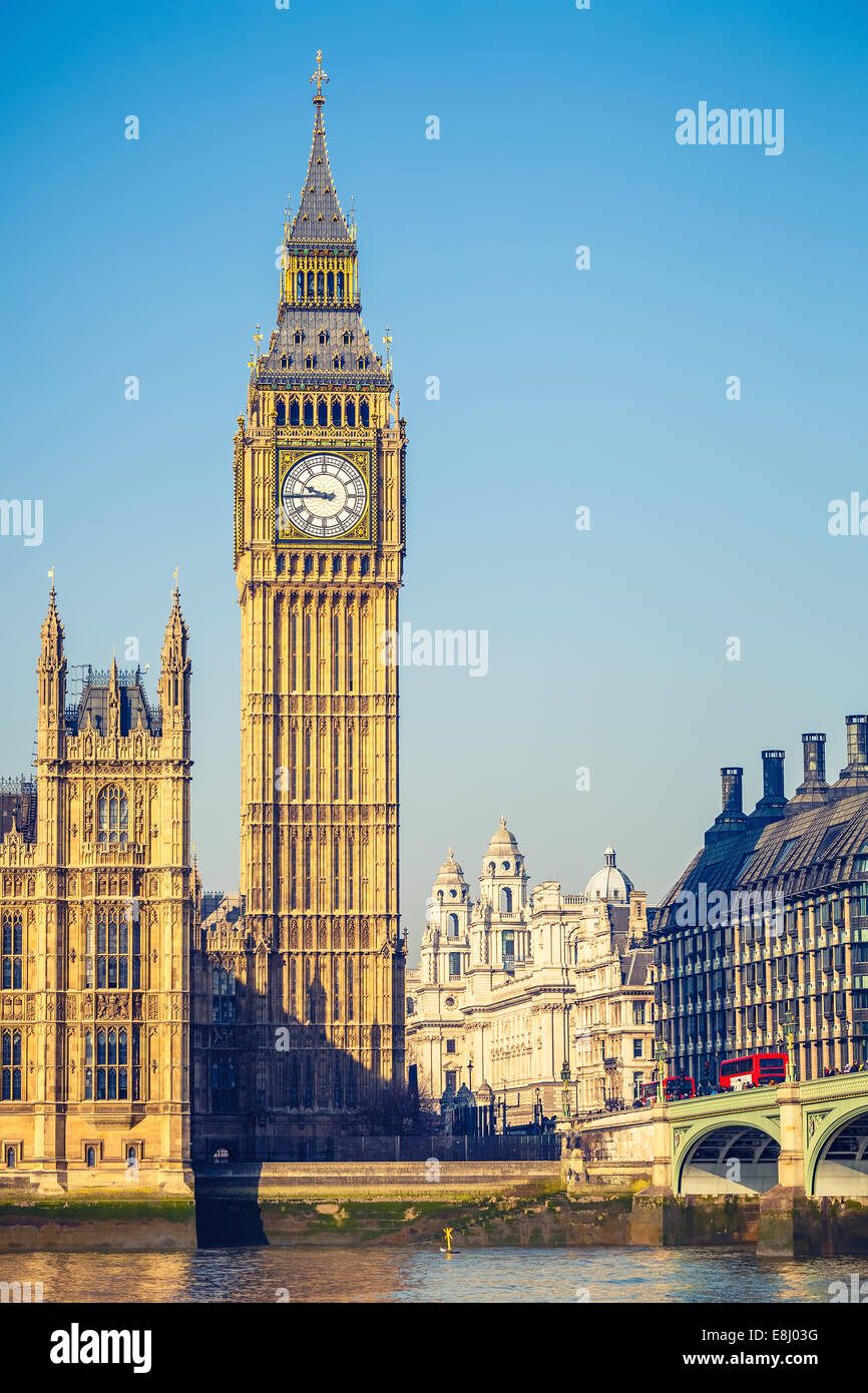 Big Ben tower in London - Stock Image