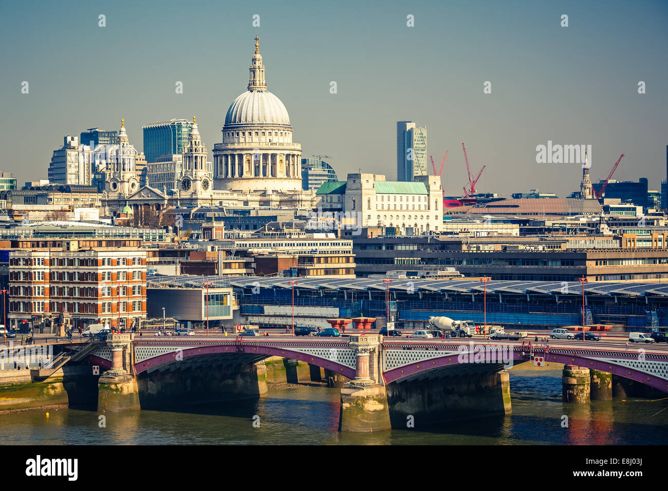 Aerial view on London city - Stock Image