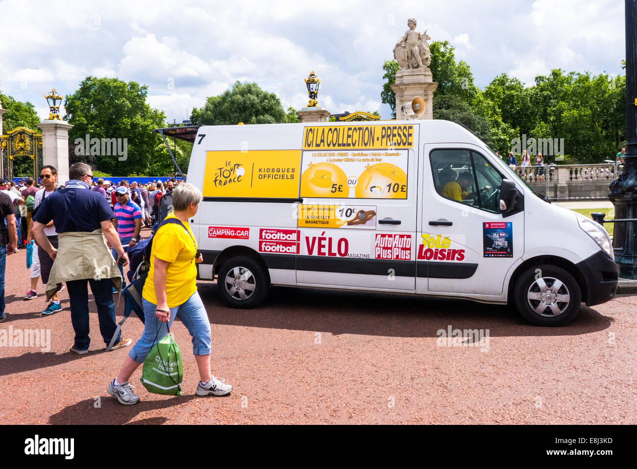 The Tour de France promotional van at the stage finish on the Mall, London. 2014 - Stock Image
