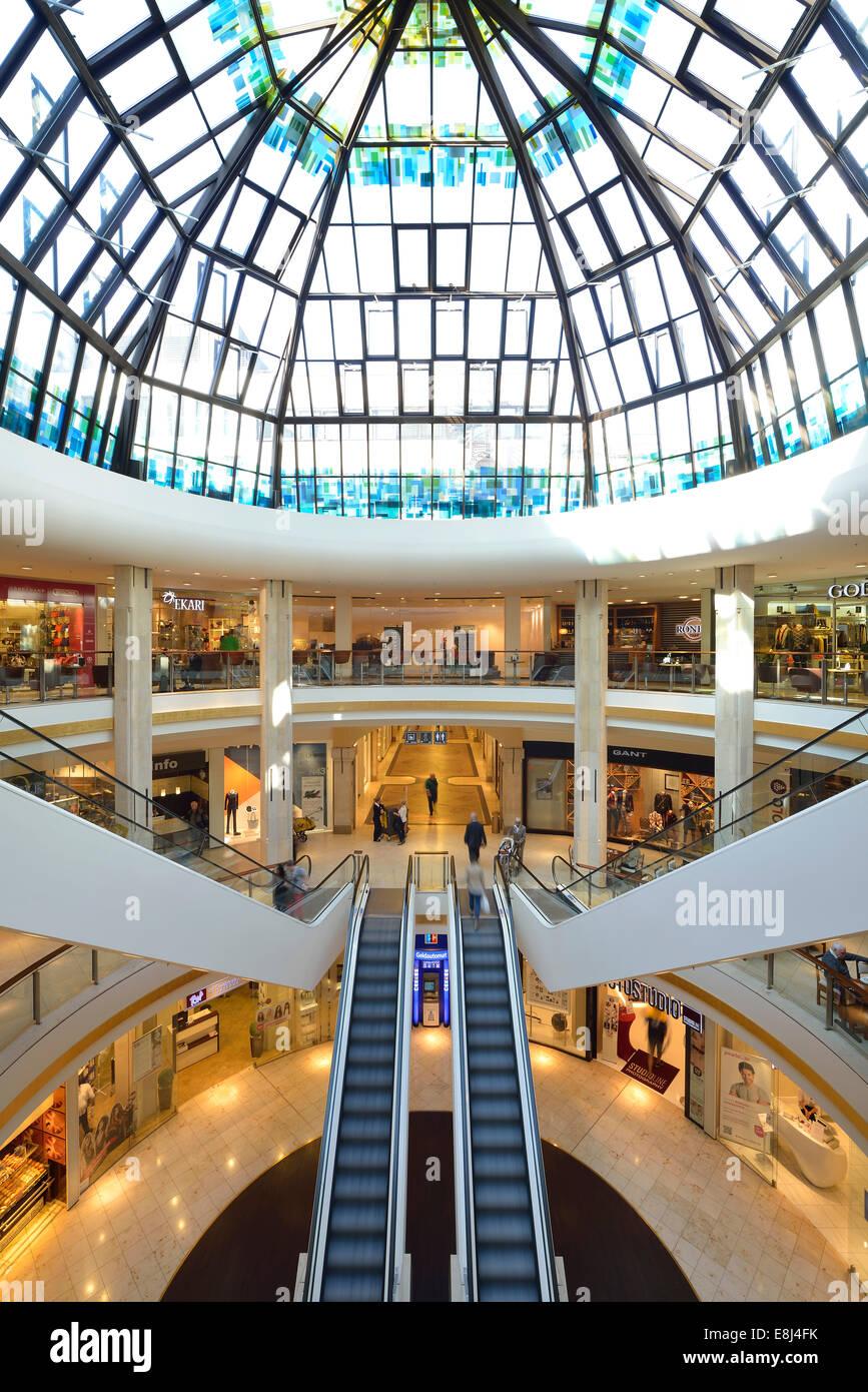 Kö Gallery, designed by Walter Brune, Kö, strip mall, Königsallee, Düsseldorf, North Rhine-Westphalia, - Stock Image