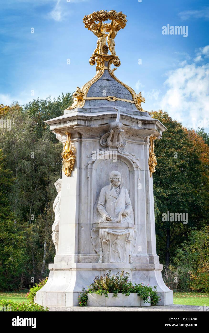 The Beethoven-Haydn-Mozart Memorial in Tiergarten Park, Berlin, Germany - Stock Image