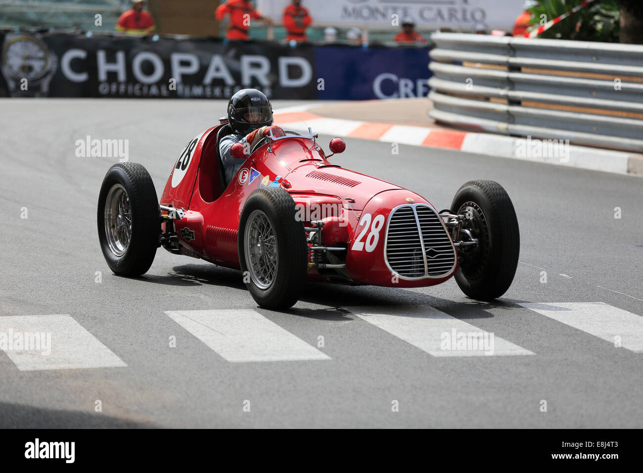 Post-war racing car Maserati A6GCM, built in 1951, driver Julia De Baldanza, 9th Grand Prix de Monaco Historique - Stock Image