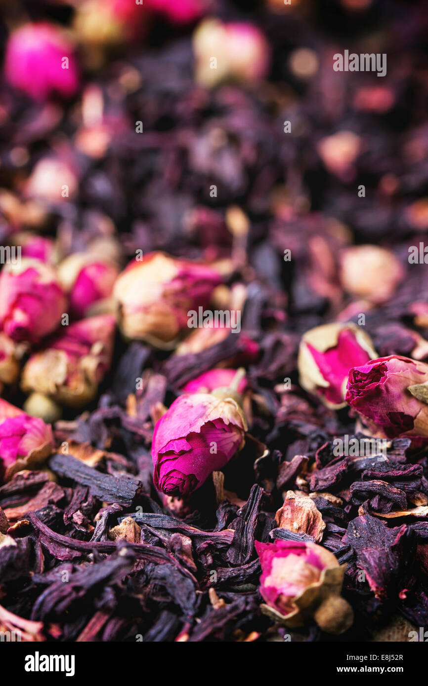 Heap of tea roses and dried hibiscus flower stock photo 74157855 heap of tea roses and dried hibiscus flower izmirmasajfo