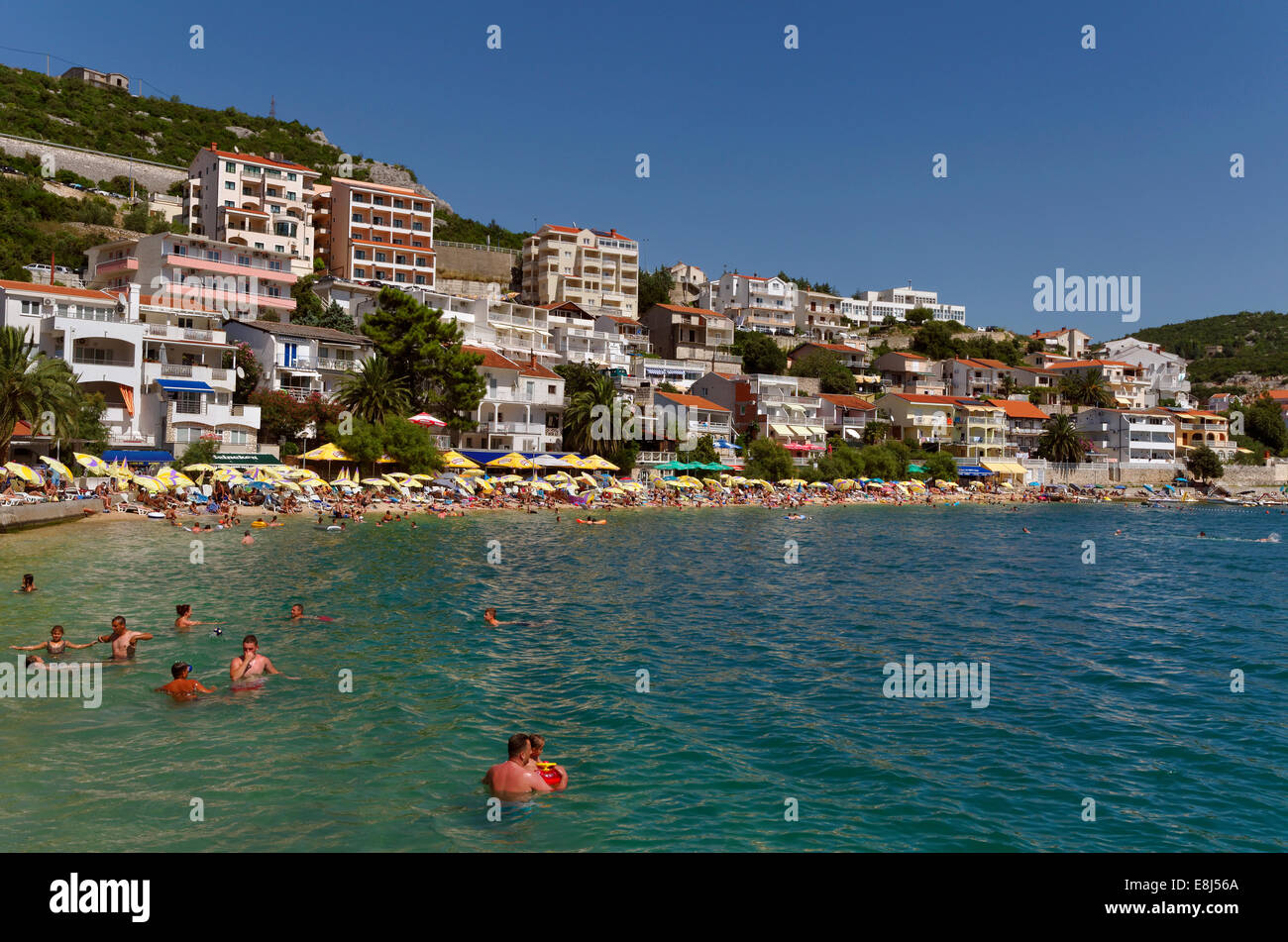 Adriatic coastal town of Neum in Herzegovina-Neretva Canton, Bosnia and Herzegovina - Stock Image