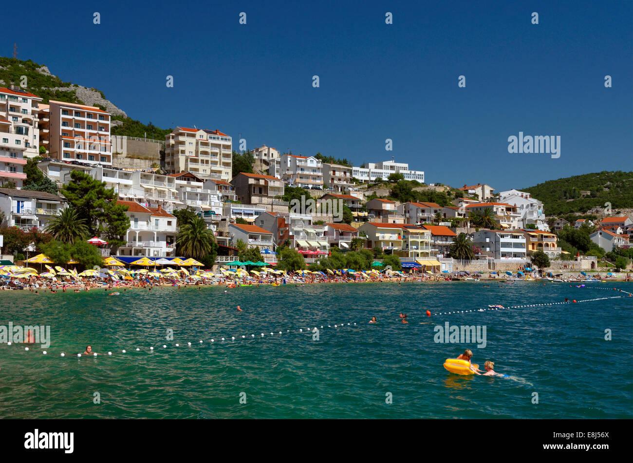 Adriatic coastal town of Neum in Herzegovina-Neretva Canton, Bosnia and Herzegovina - Stock Image