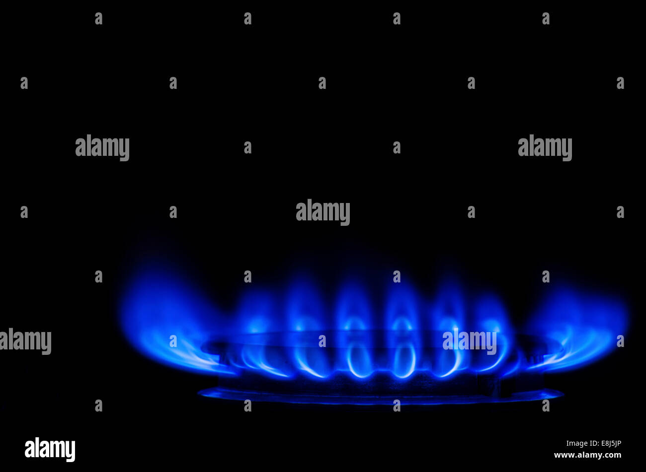 Blue Electric Gas Stock Photo