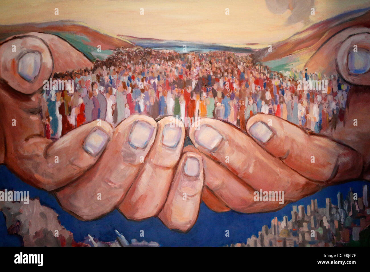 Depiction of the people of God. - Stock Image