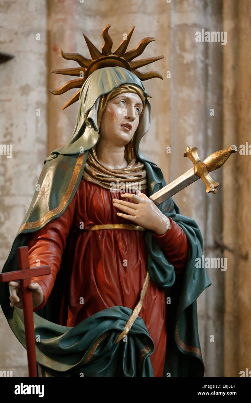 Saint Salvators Cathedral. Our Lady of Sorrows. Stock Photo