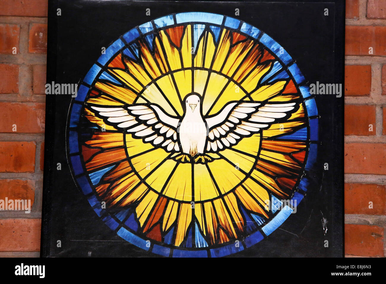 Stained Glass Holy Spirit Dove Church Stock Photos Stained Glass