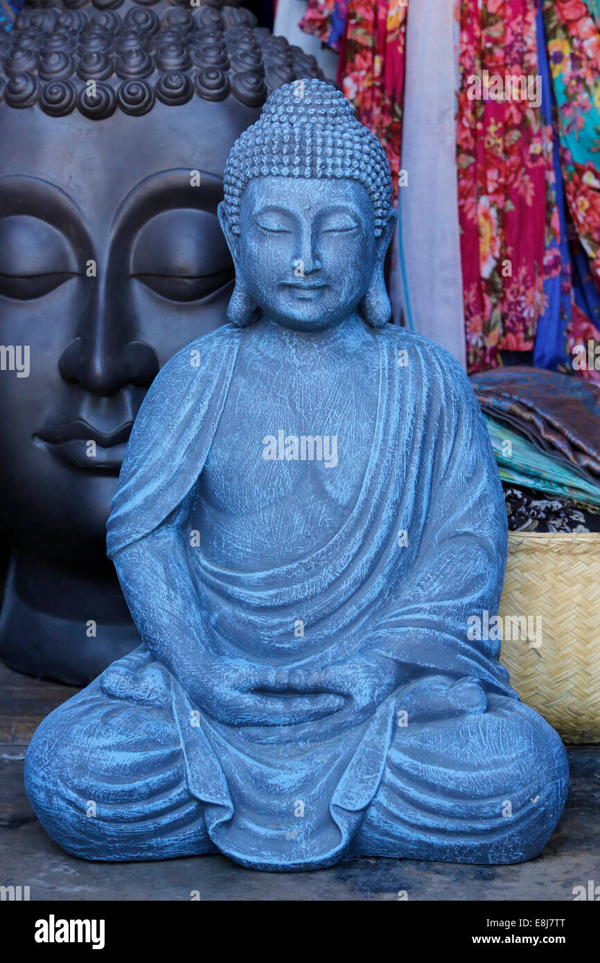 Buddha statue in an antique shop - Stock Image