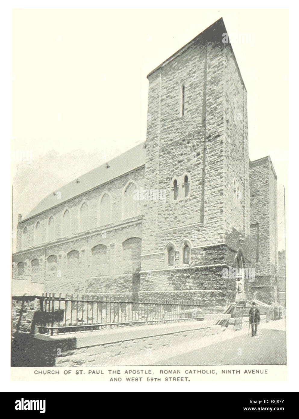 (King1893NYC) pg403 CHURCH OF ST.PAUL THE APOSTEL, ROMAN CATHOLIC, 9TH AVENUE and 59TH STREET - Stock Image