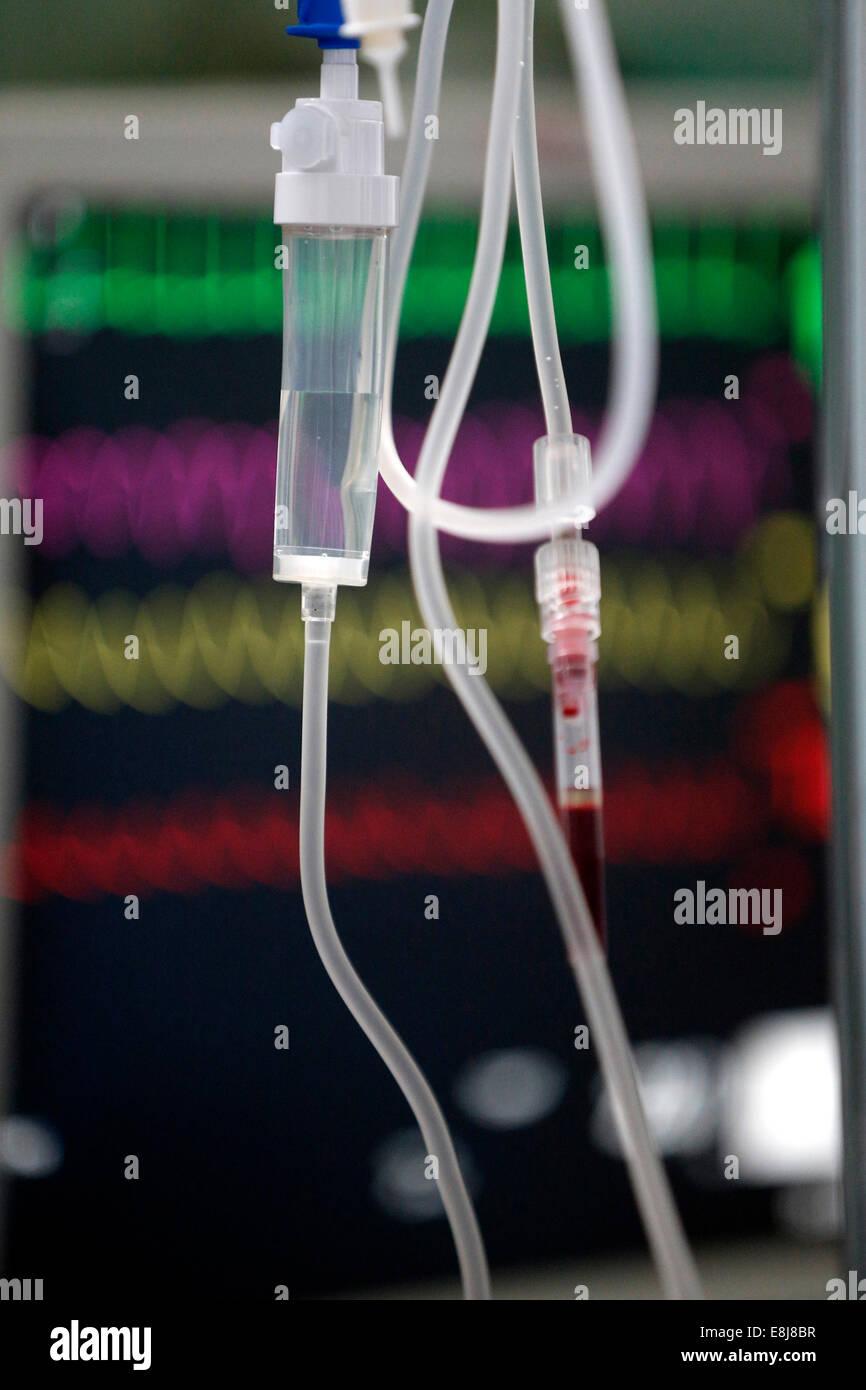 Intensive care unit. Medical equipment. - Stock Image