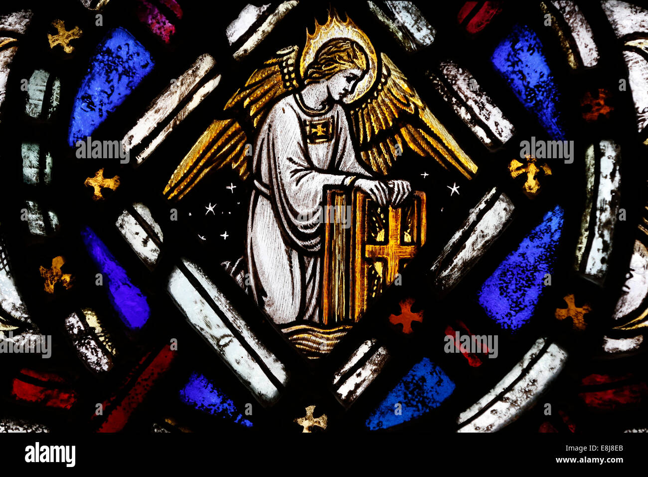The American Church In Paris Stained Glass Window The Angel Symbol