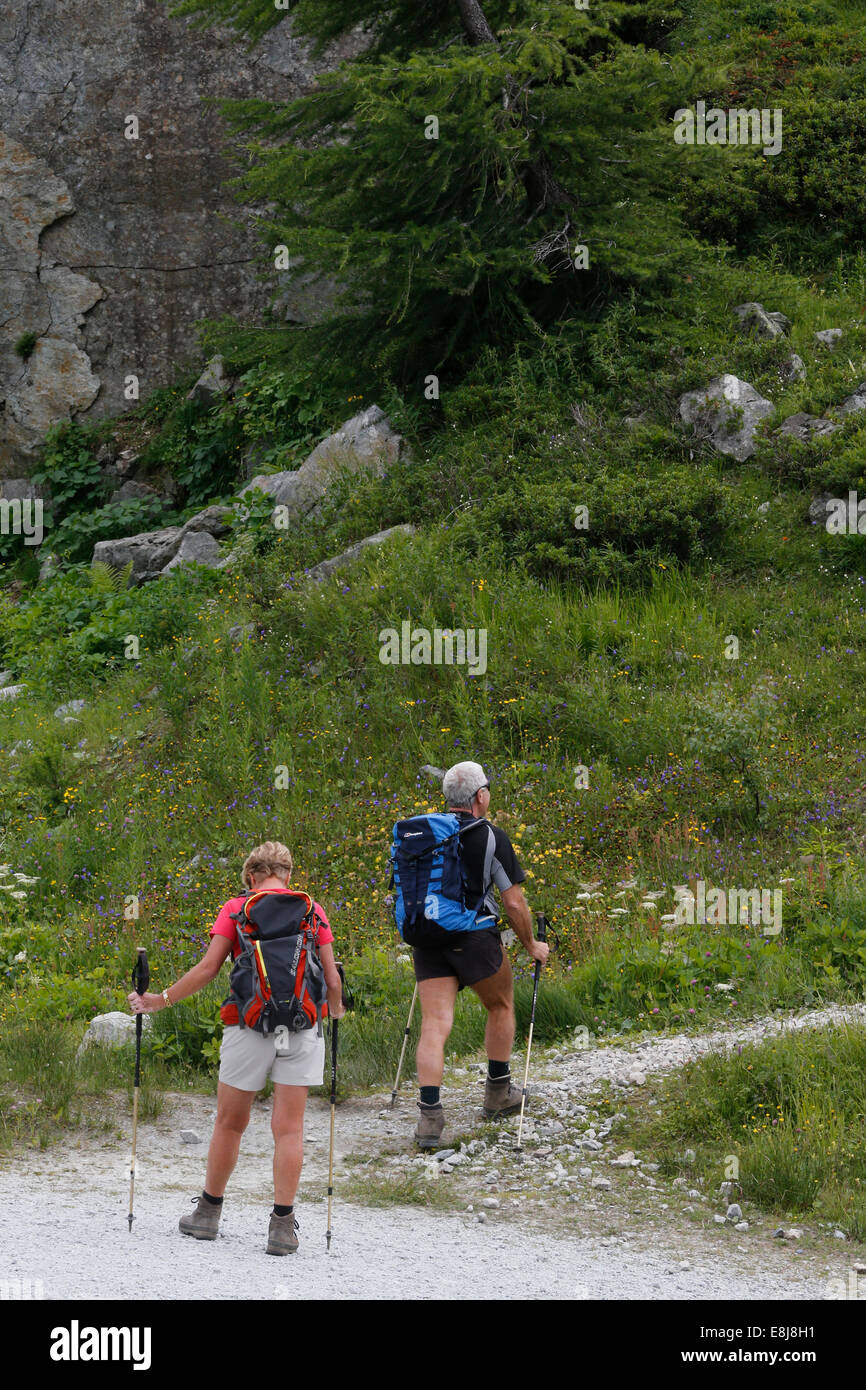 Mountain trek. - Stock Image