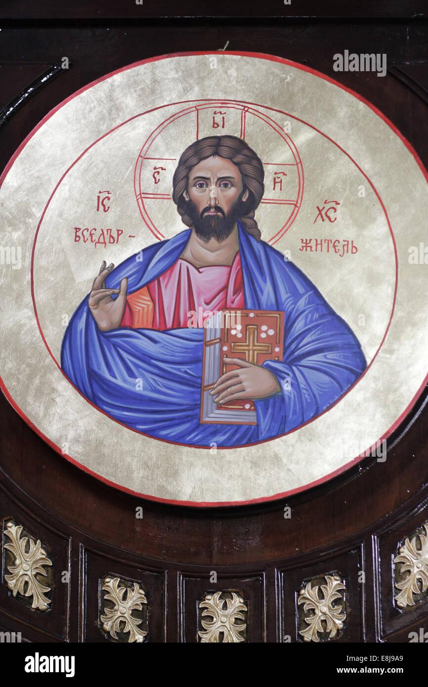 Jesus Christ.  Church of St. Stephen of the Bulgars. - Stock Image