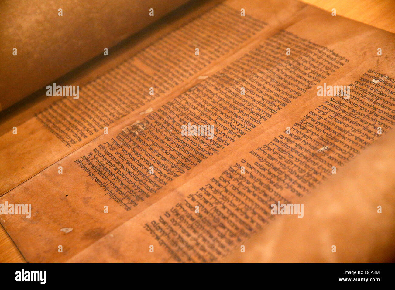 The Museum of Jewish Art and History in Paris. Torah. XVIth century. - Stock Image