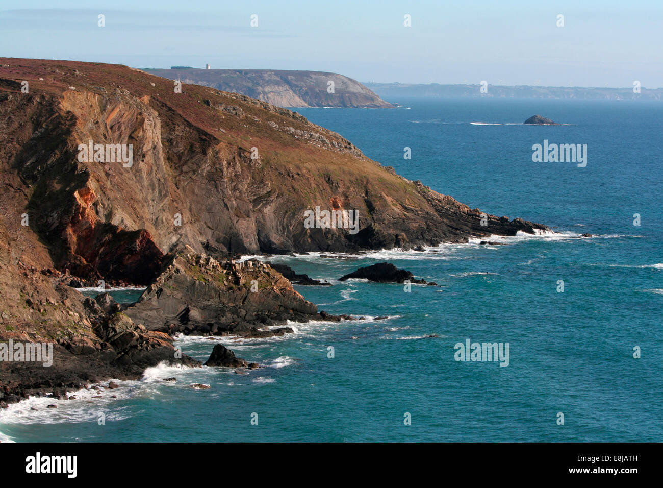 Finistre coastline - Stock Image