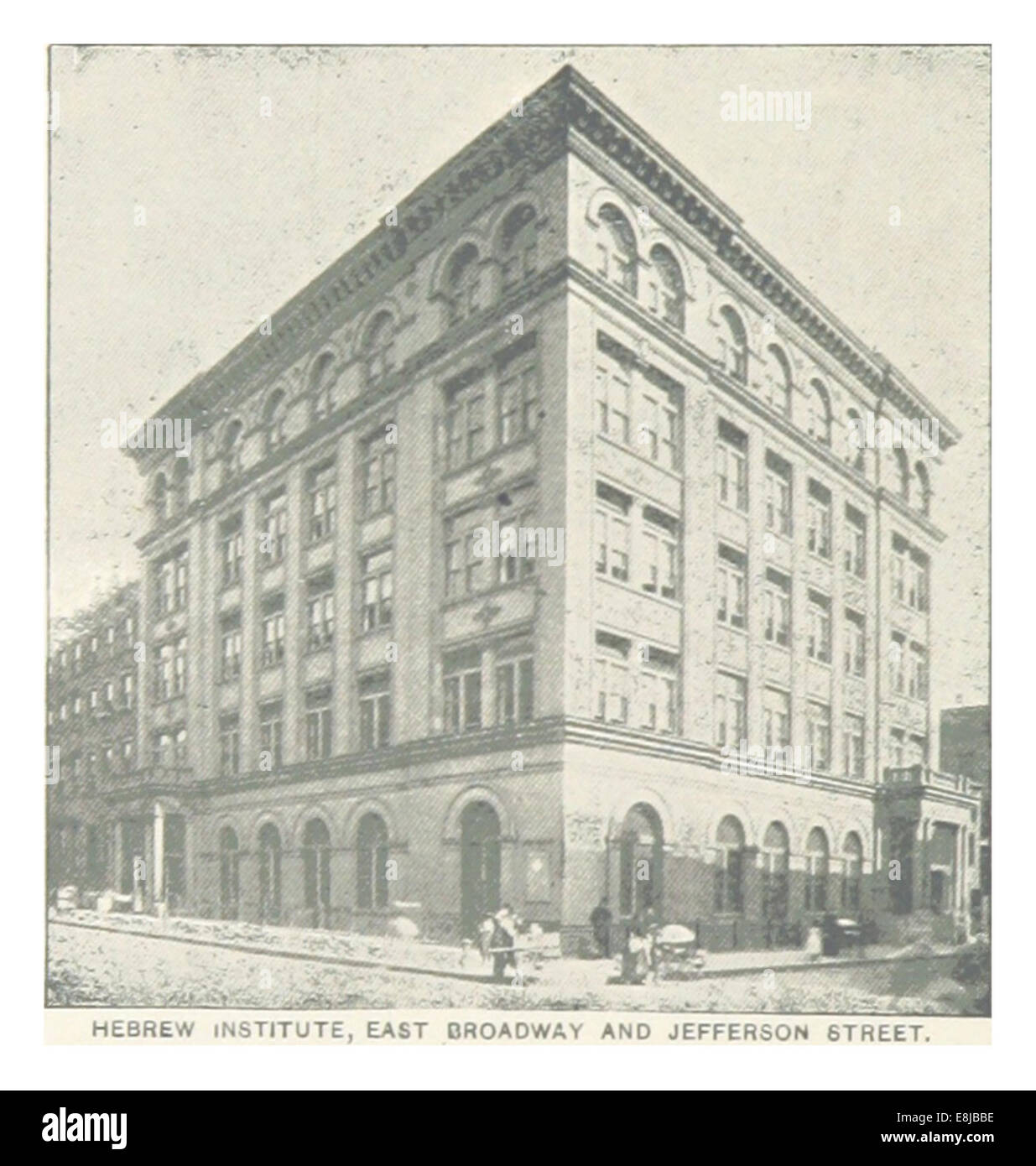 (King1893NYC) pg424 HEBREW INSTITUTE, EAST BROADWAY AND JEFFERSON STREET - Stock Image