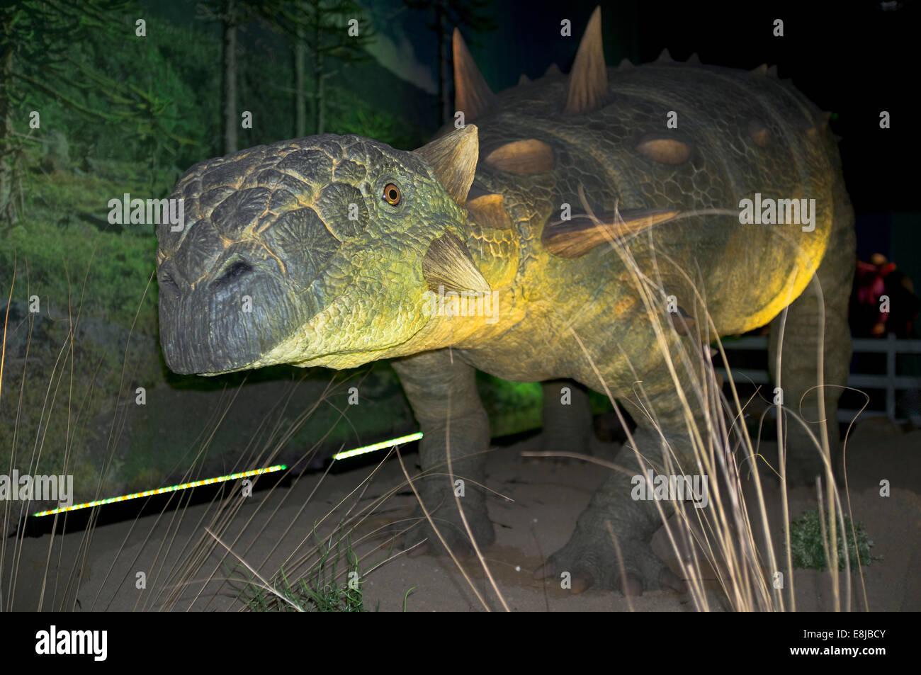dh Euoplocephalus PREHISTORIC ANIMAL Extinct north american dinosaur herbivore - Stock Image