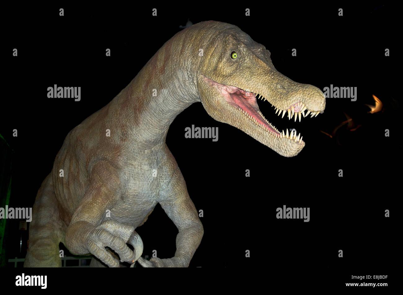 dh Baryonyx PREHISTORIC ANIMAL Extinct European dinosaur piscivorous bipedal - Stock Image
