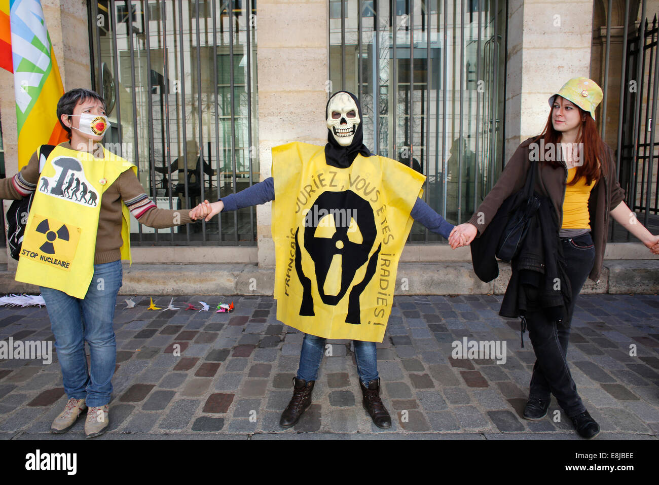 Demonstration against nuclear energy Stock Photo