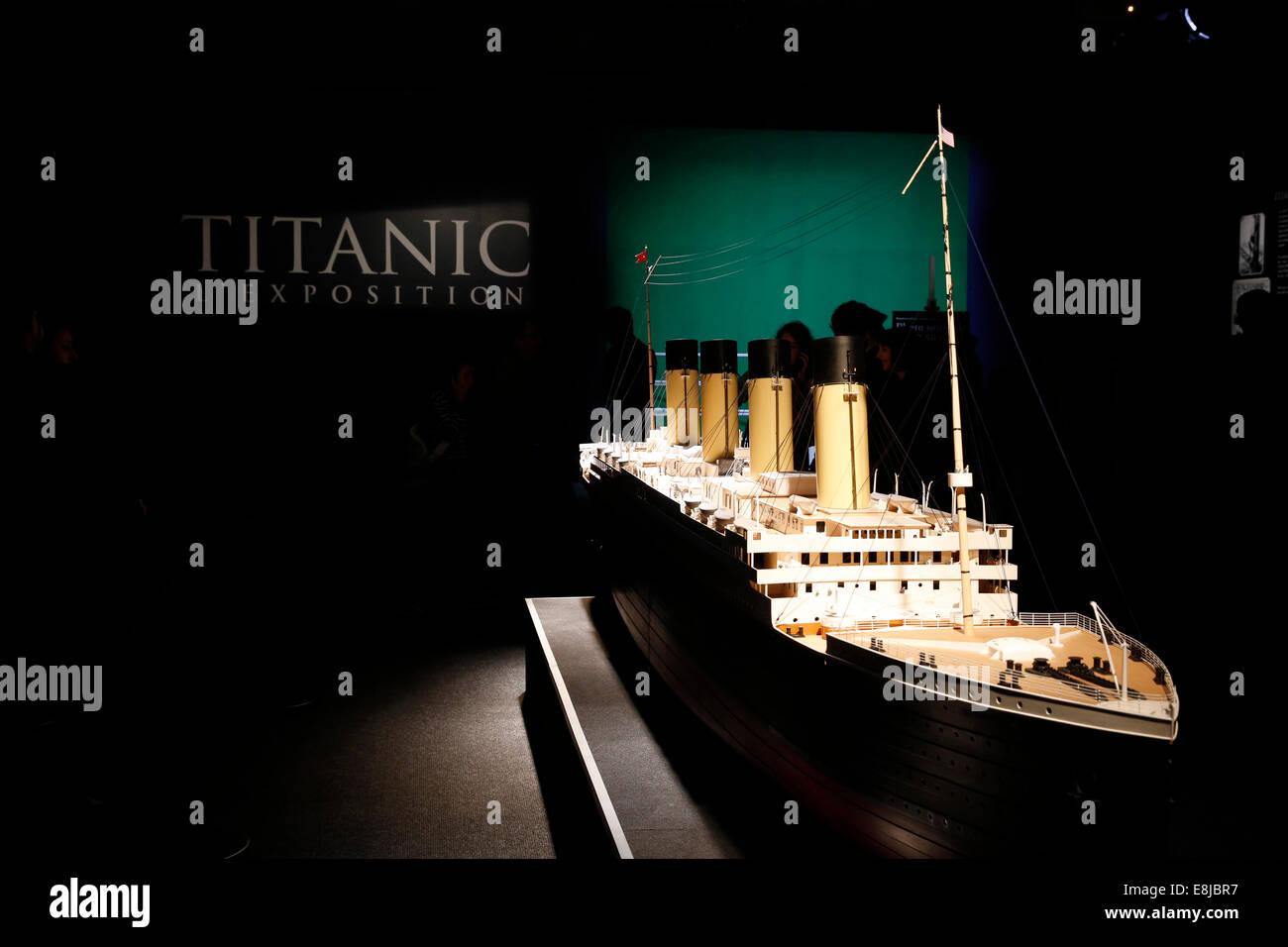 Titanic exhibition - Stock Image