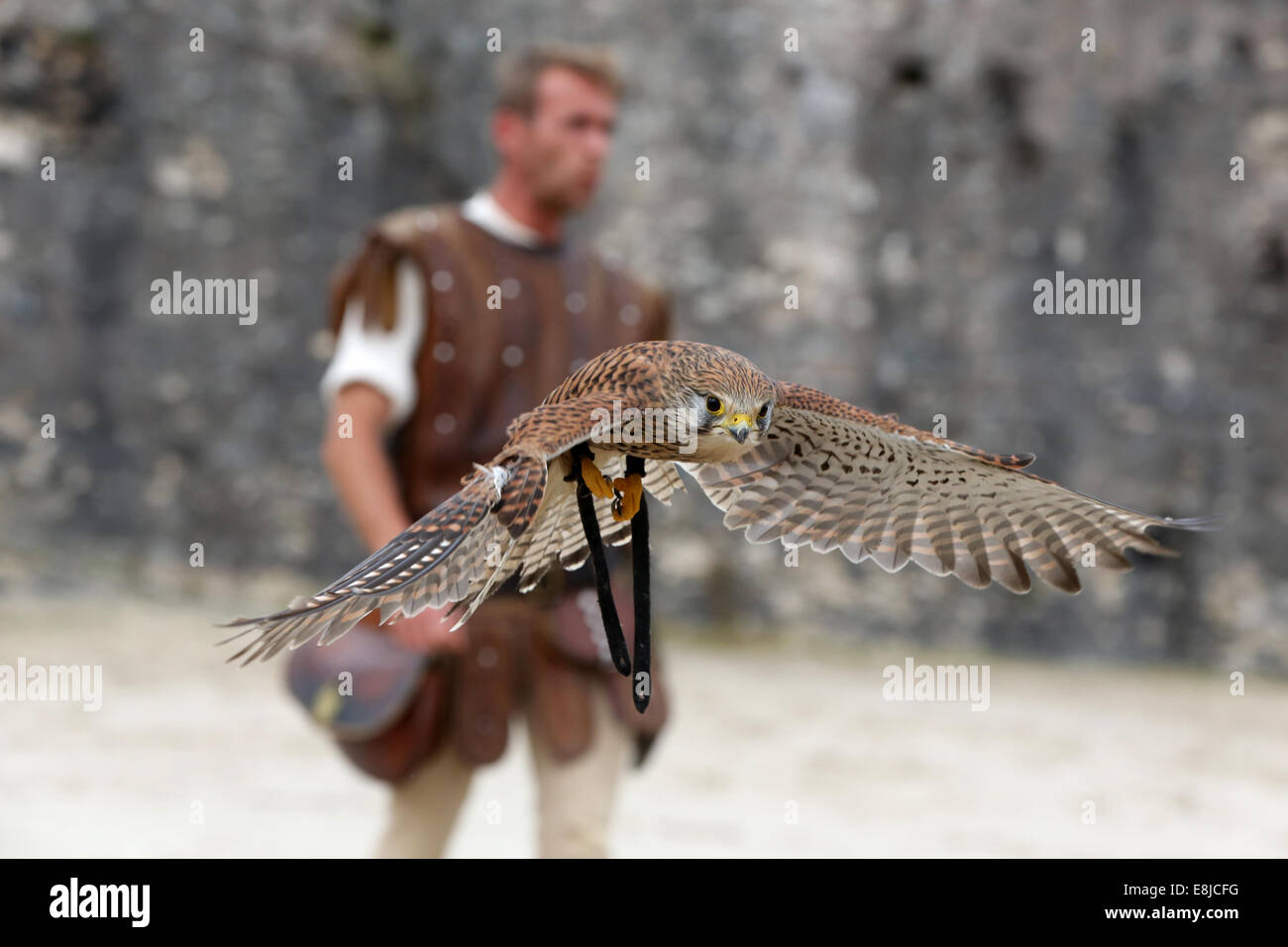 The legend of the knights. The medieval festival of Provins. - Stock Image