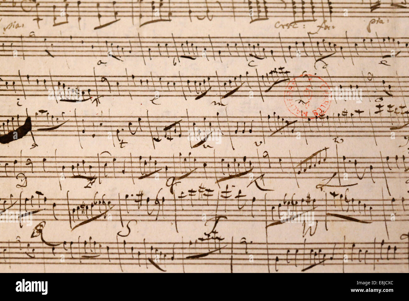 Music score. Wolfgang Amadeus Mozart Stock Photo: 74164004 ... Wolfgang Amadeus Mozart Musical
