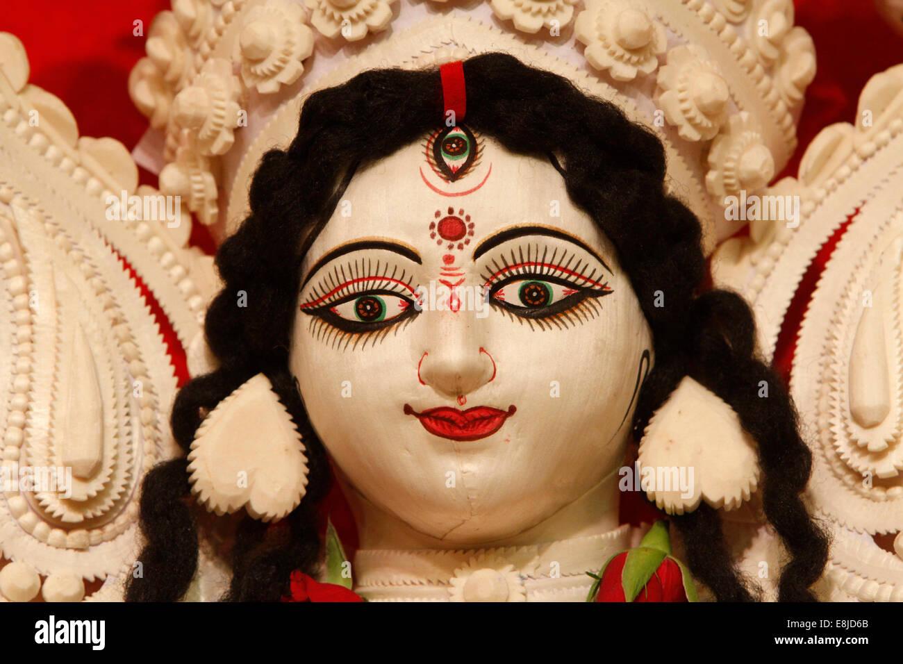 Hindu goddess Durga - Stock Image