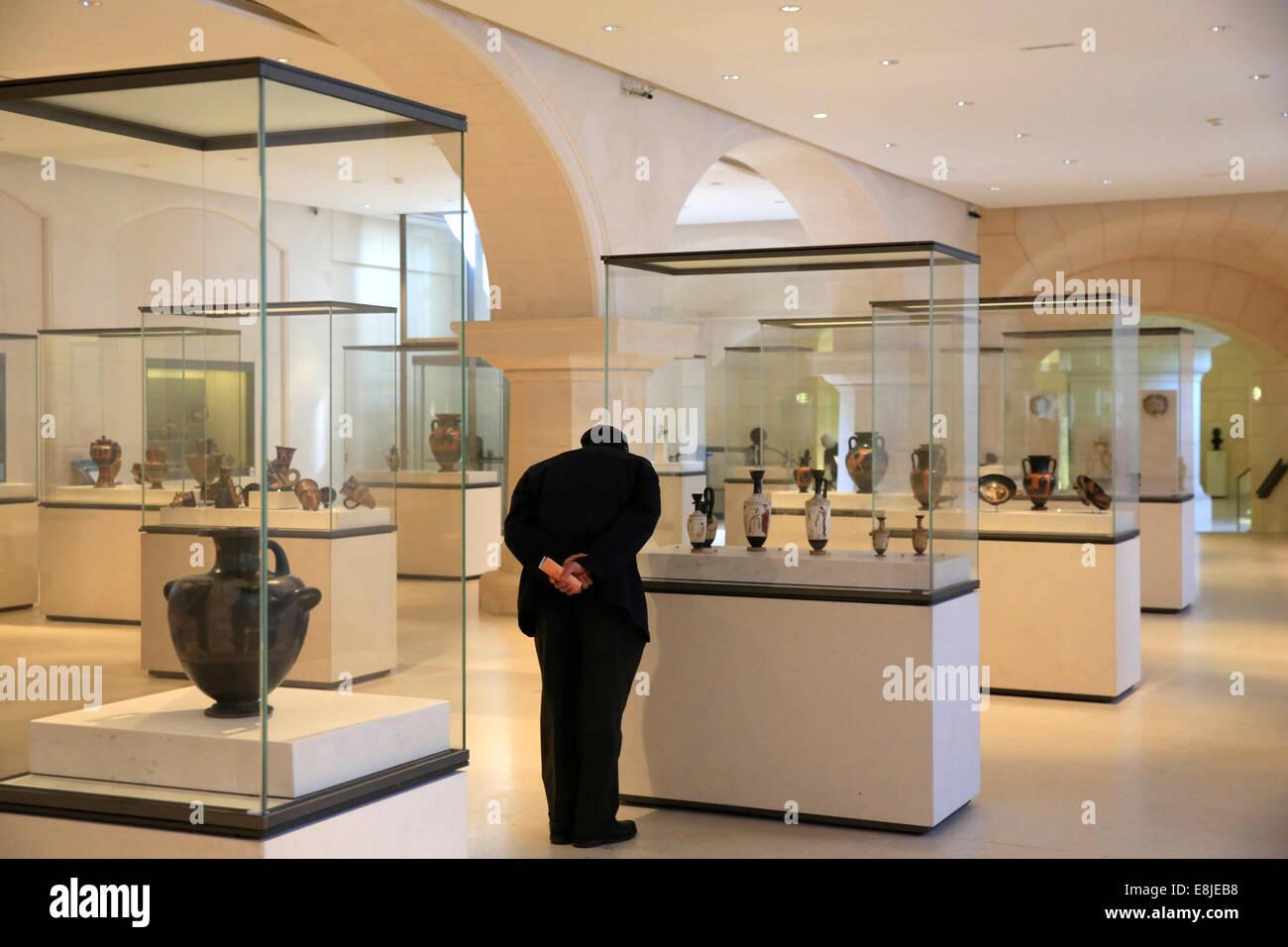 Petit Palais Museum. Antiquities room. - Stock Image