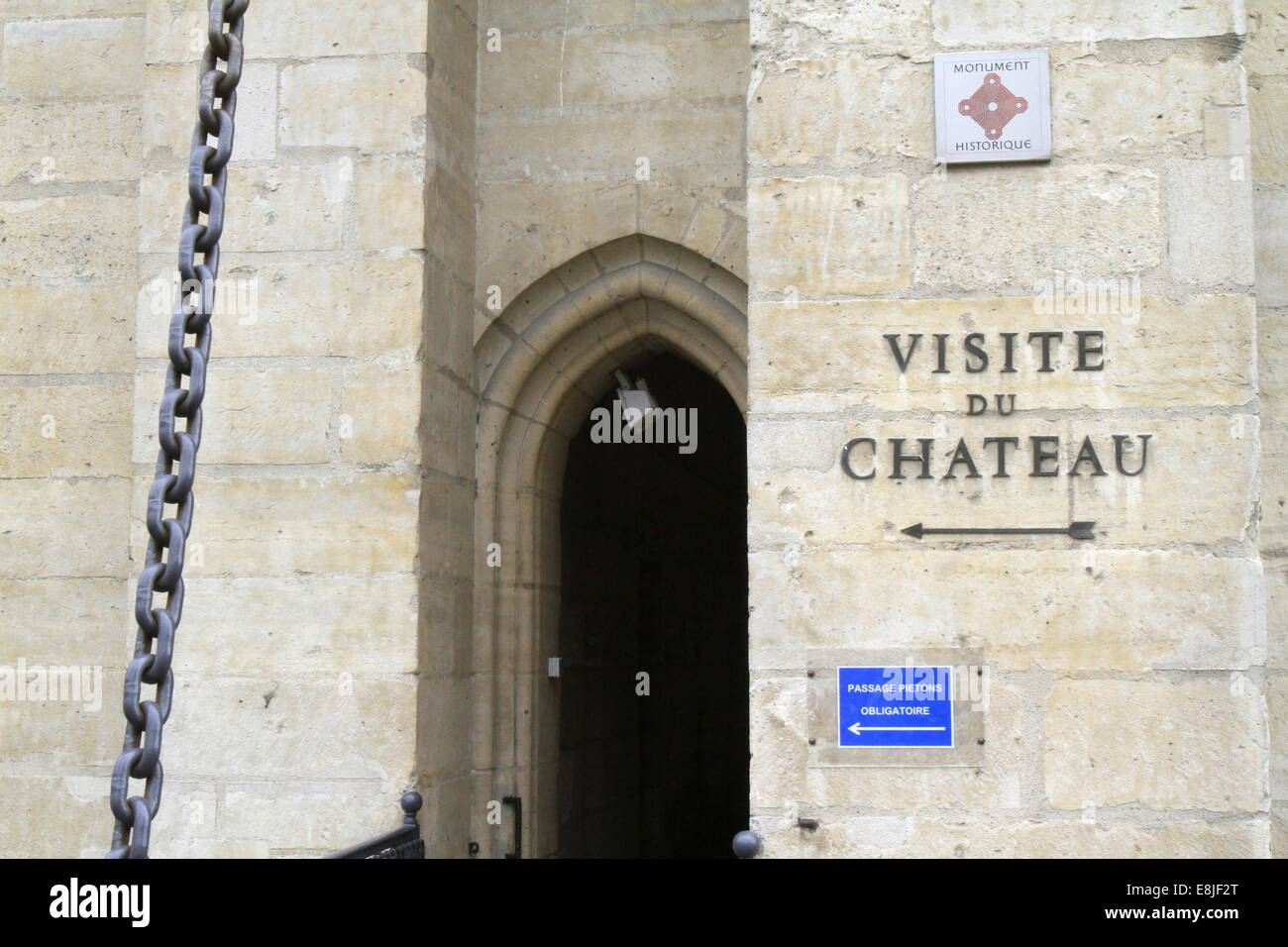 Visit Castle. Vincennes Castle. - Stock Image