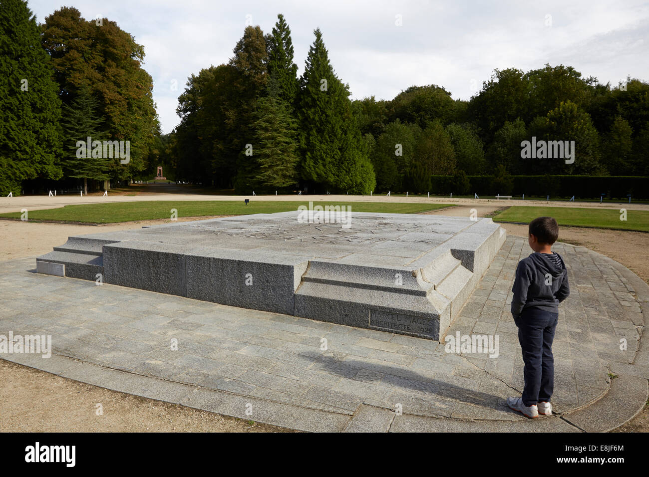 Place where the armistice was signed between the Allies of World War I and Germany at Compigne, France, for the - Stock Image