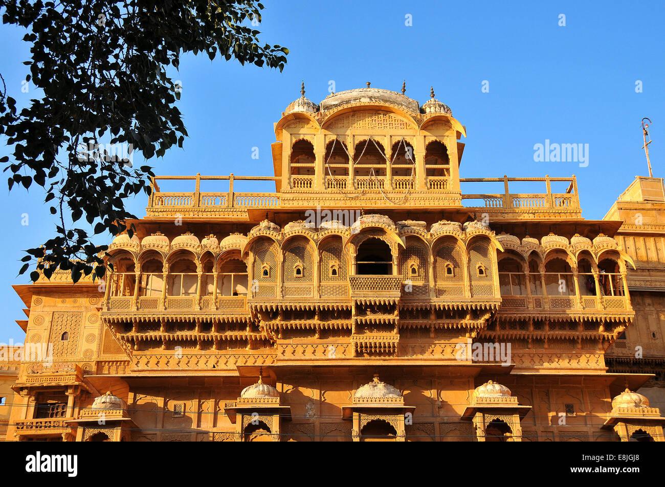 Jaisalmer Raj Mahal. Royal Palace. - Stock Image