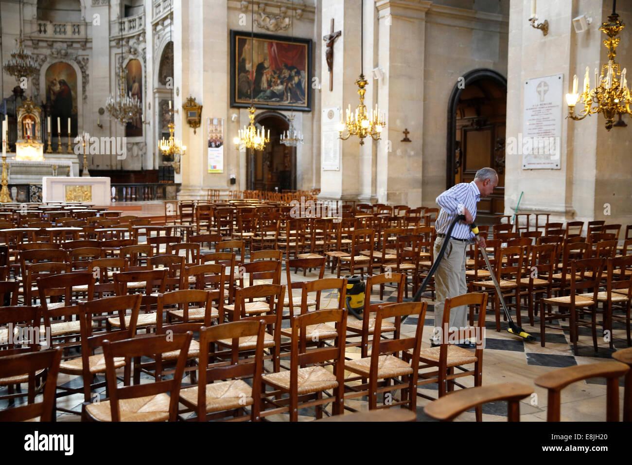 Saint-Paul church. Cleanliness. - Stock Image
