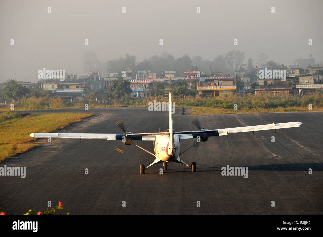 Pokhara airport - Stock Image