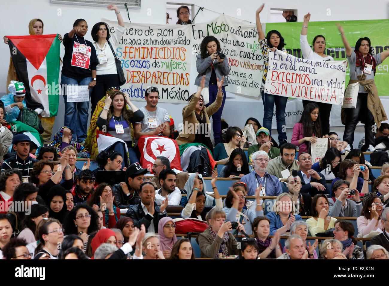 World Social Forum in Tunis - Stock Image
