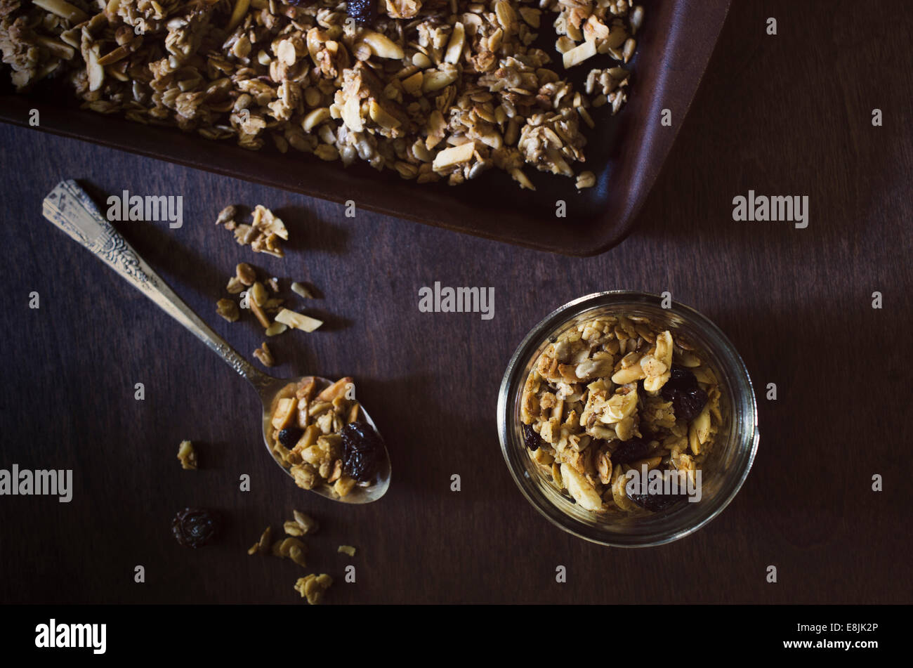 Home made Granola - Stock Image