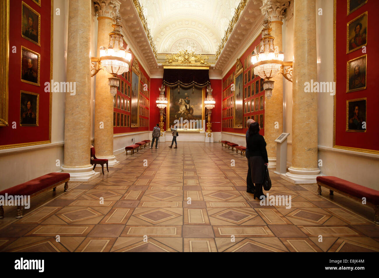 Hermitage Museum. The Gallery of the Patriotic War of 1812. - Stock Image